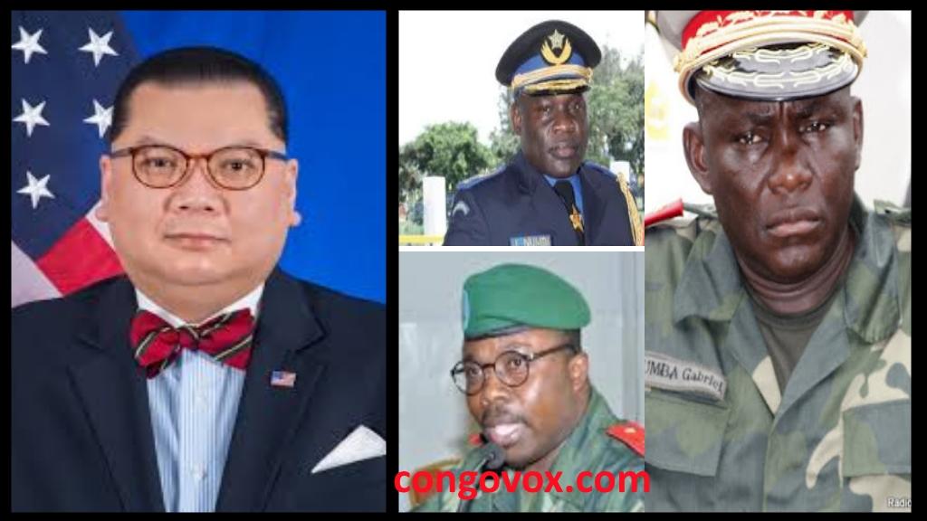 Dr. Peter Pham, Gen. John Numbi, Gen. Delphin Kahimbi, Gen. Amisi Tango Fort