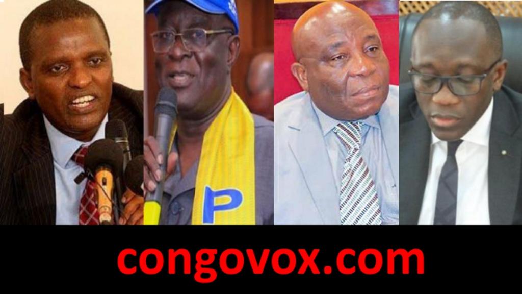 Azarias Ruberwa, Jose Nsele, Aime Ngoyi Mukena,  Celestin Ntunda,