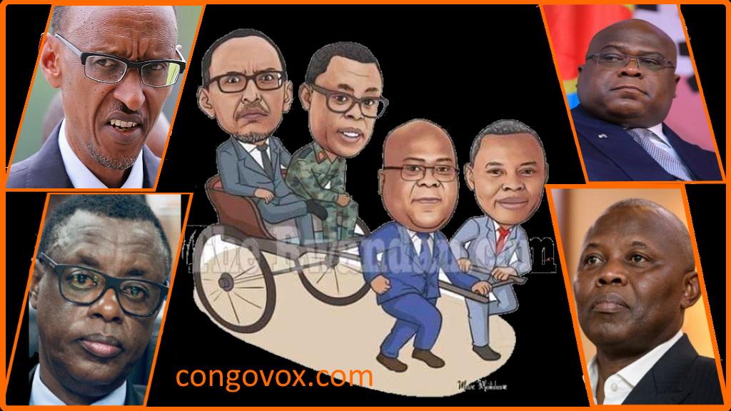 Paul Kagame, James Kabarebe, Felix Tshisekedi, Vital Kamerhe