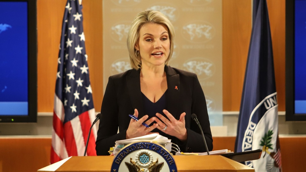 Heather Nauert, Porte Parole, Departement d' Etat Americain