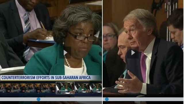Amb.  Linda Thomas-Greenfield et Senateur Ed ward Markey