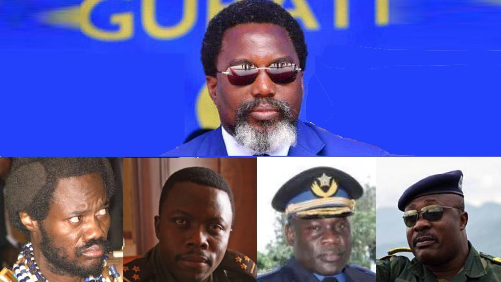 Joseph Kabila, Kyungu alias Gédéon, General Delphin Kayimbi, Général John Numbi, Général Jean-Claude Yav