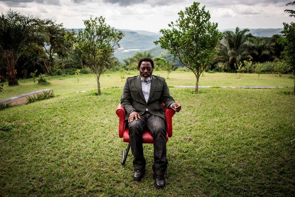 Le président Joseph Kabila dans son ranch personnel près de Kinshasa, la capitale du Congo. Il est en poste depuis l'assassinat de son père en 2001.