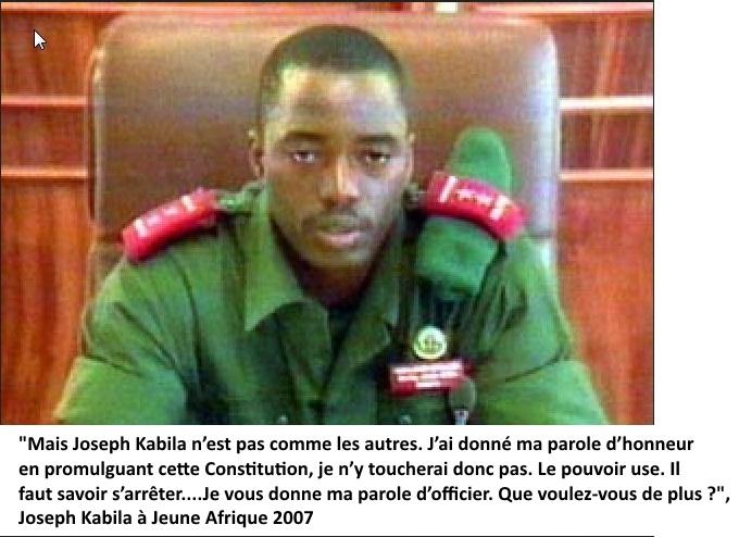 Kabila, un homme sans parole d'honneur