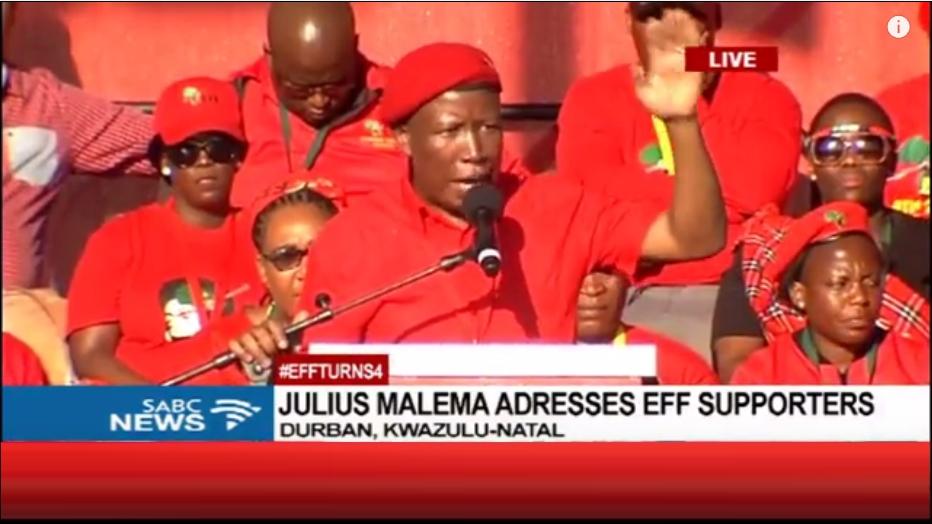 Julius Malema, Leader Politique de l'Afrique du Sud
