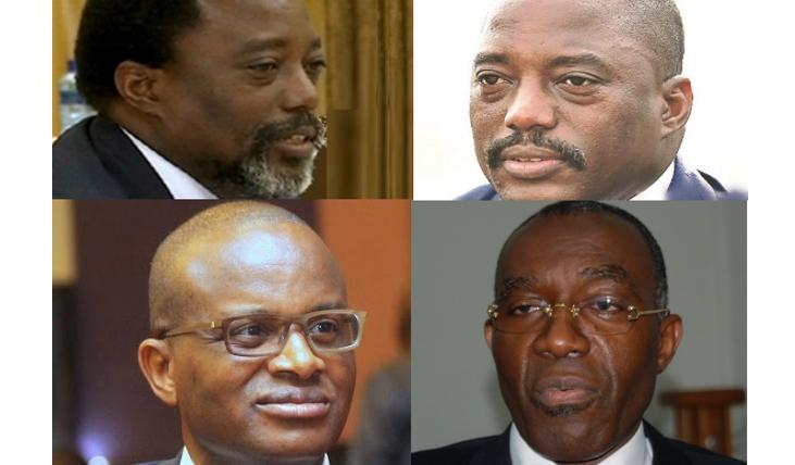 Joseph Kabila. Macaire Mwangu, Raymond Tshibanda et Joseph Kabila