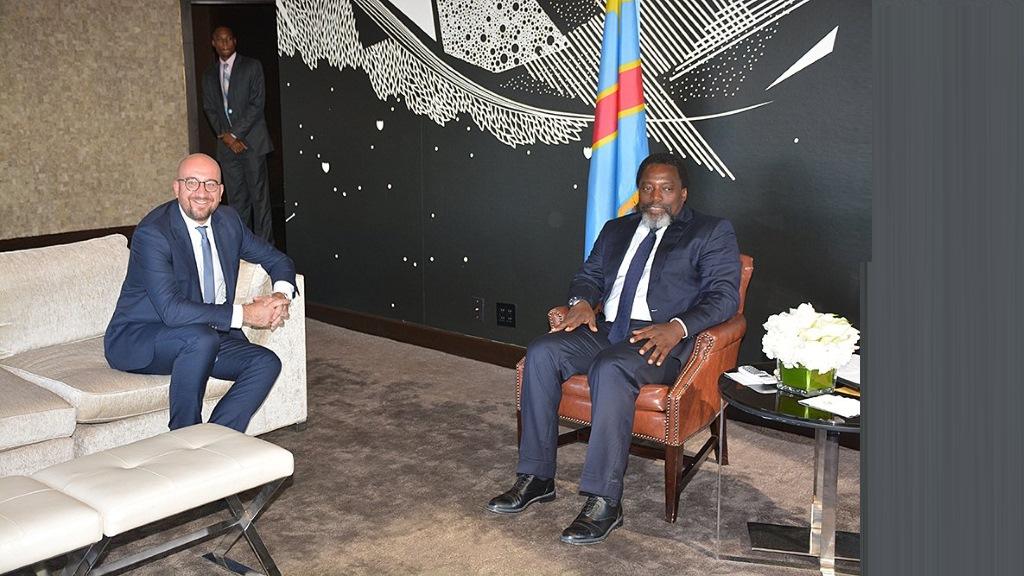Charles Michel et Joseph Kabila à New York, 2018