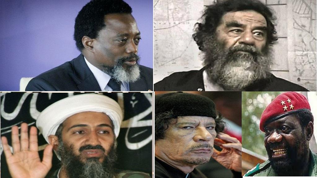 Joseph Kabila, Osama Bin Laden, Sadam Hussein, Kadafi et Savimbi