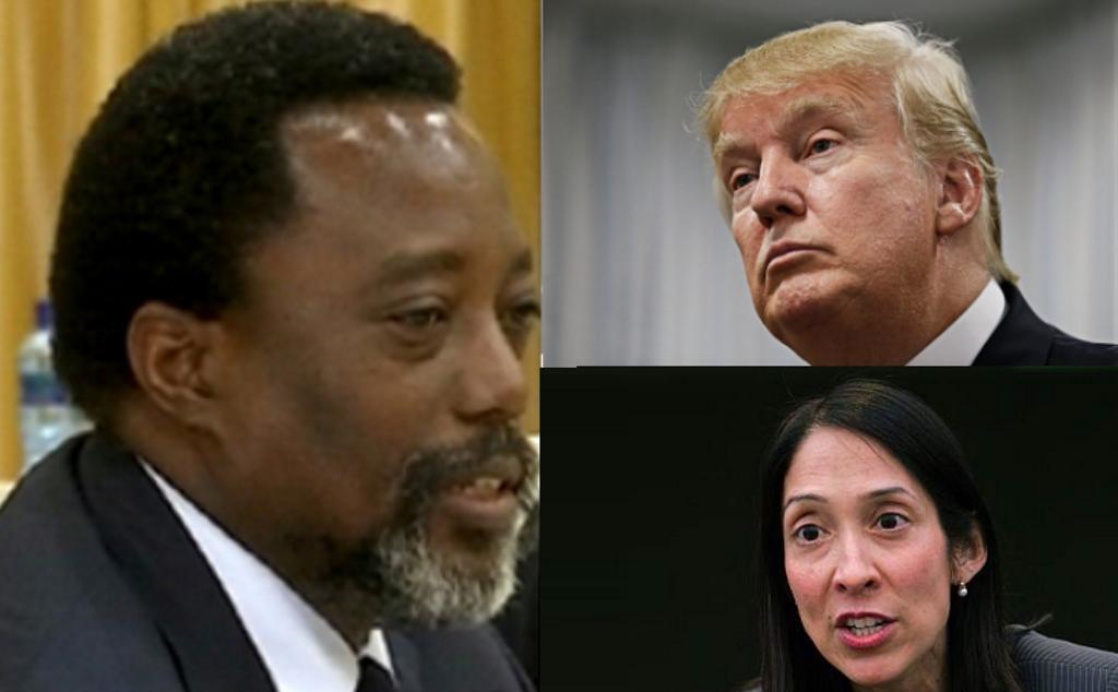 Joseph Kabila, Donald Trump et Michele Sison