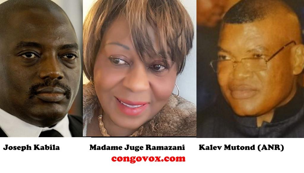 Joseph Kabila, Chantal Ramazani et Kalev Mutond