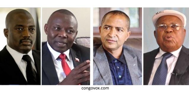 Joseph Kabila, Vital Kamerhe, Moise Katumbi et Etienne Tshisekedi