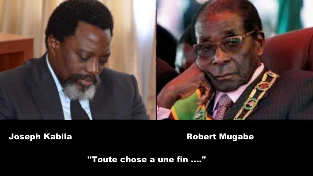 Joseph Kabila et Robert Mugabe