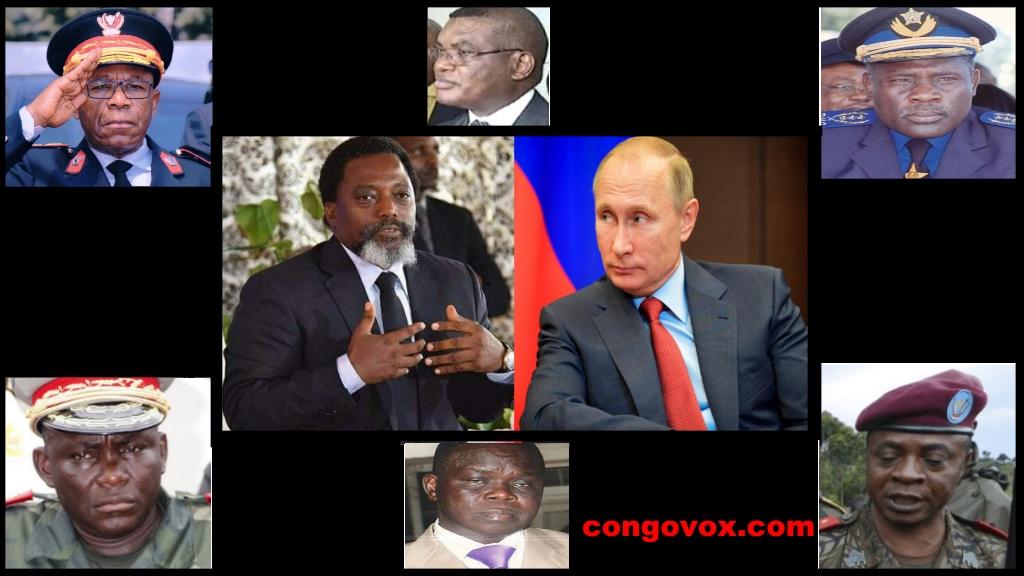 Joseph Kabila, Poutine, Général Didier Etumba Longila, Kalev Mutond (ANR), Général Numbi Banza Tambo John, Général Gabriel Amissi Tango Fort, Monsieur Atama Tabe (Ministre de la Défense),Général major  Ilunga Kapeta Placide