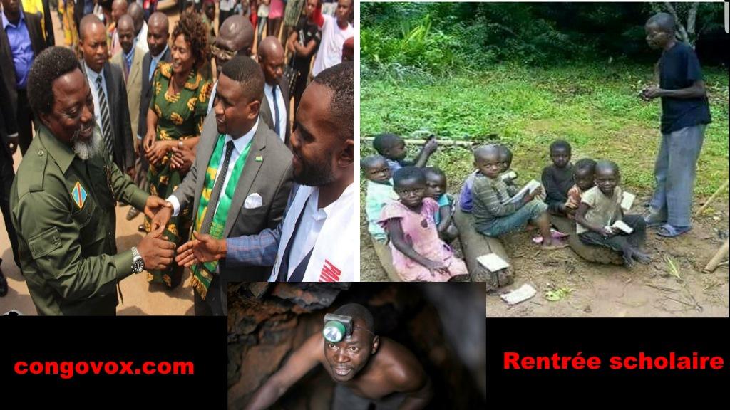 Kabila a Kolwezi, un mineur, la rentree scholaire sous le regne de Joseph Kabila en RDC