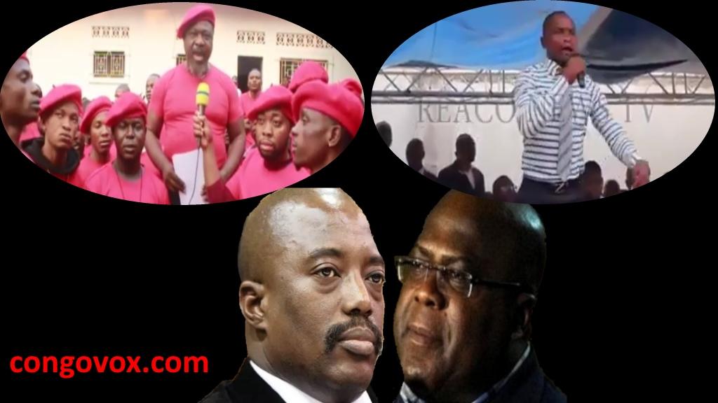 Joseph Kabila et ses berets rouges; Felix Tshisekedi et les membres de l'UDPS