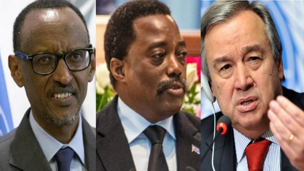 Paul Kagame, Joseph Kabila, Antonio Guterres