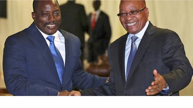 Joseph Kabila et Jacob Zuma