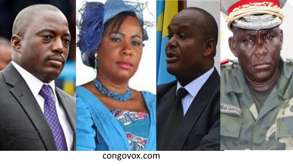 Joseph Kabila, Olive Lembe Kabila, Jaques Mbadu, Gabriel Amisi Kumba