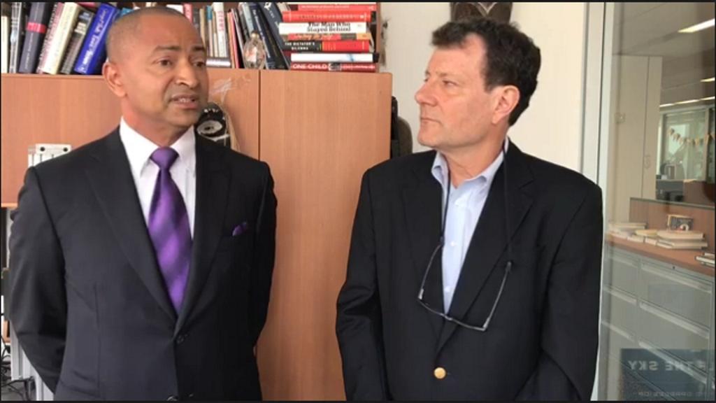 Moise Katumbi et Nicholas Kristof