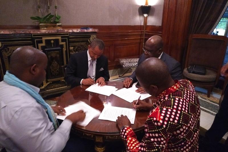 Felix Tshisekedi, André Mbata Mango, Moise Katumbi, Paul Nsapu et Floribert Anzuluni.