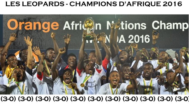 Les Leopards - champions d'Afrique