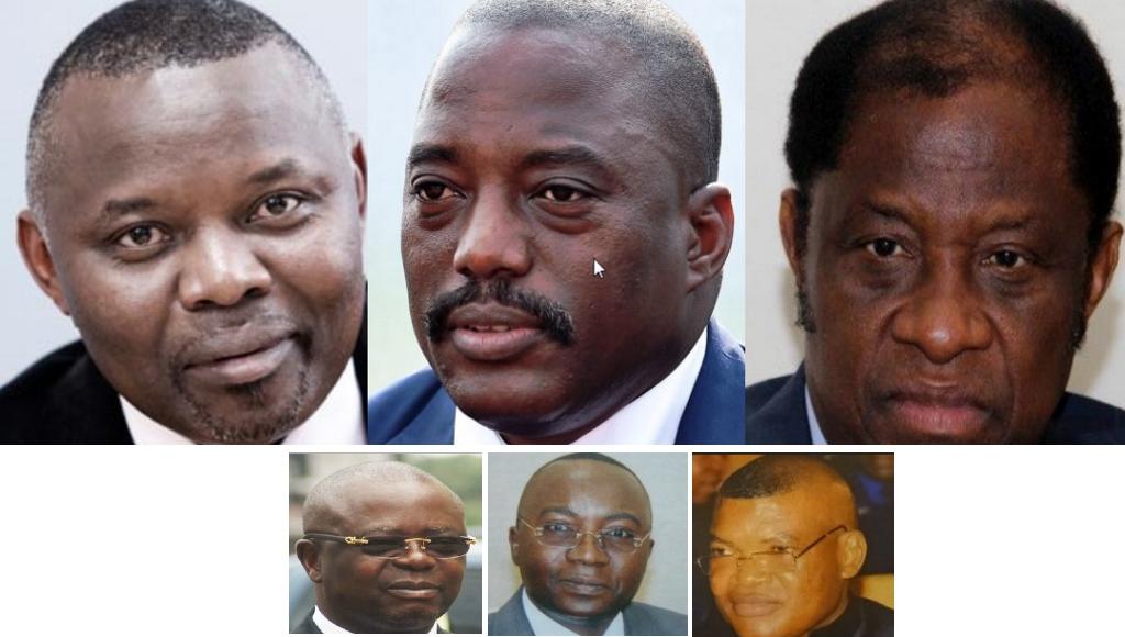 Vital Kamerhe, Joseph Kabila et Tambwe Mwamba, Andre Kimbuta, Nehemie Mwilanya et Kalev Mutond