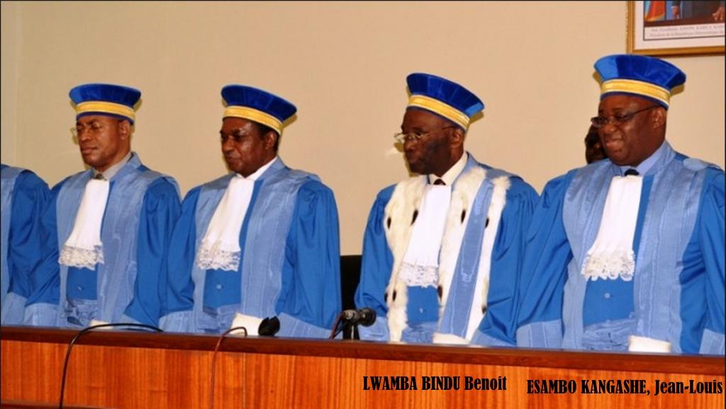 Juge President Benoit Binda Lwamba et le Juge ESAMBO KANGASHE, Jean-Louis