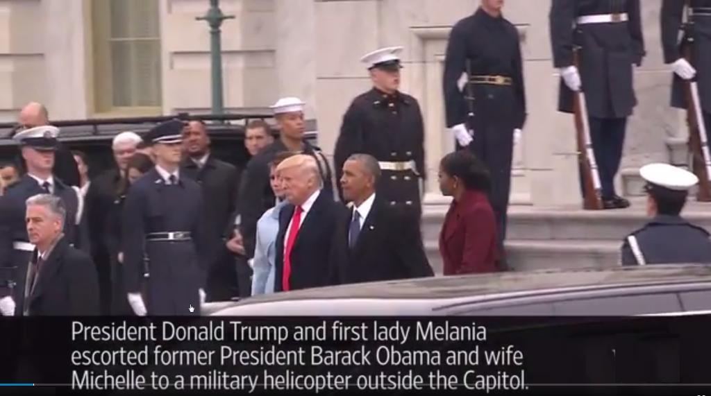 Barack Obama, Michelle Obama, Donald Trump et Melamie Trump