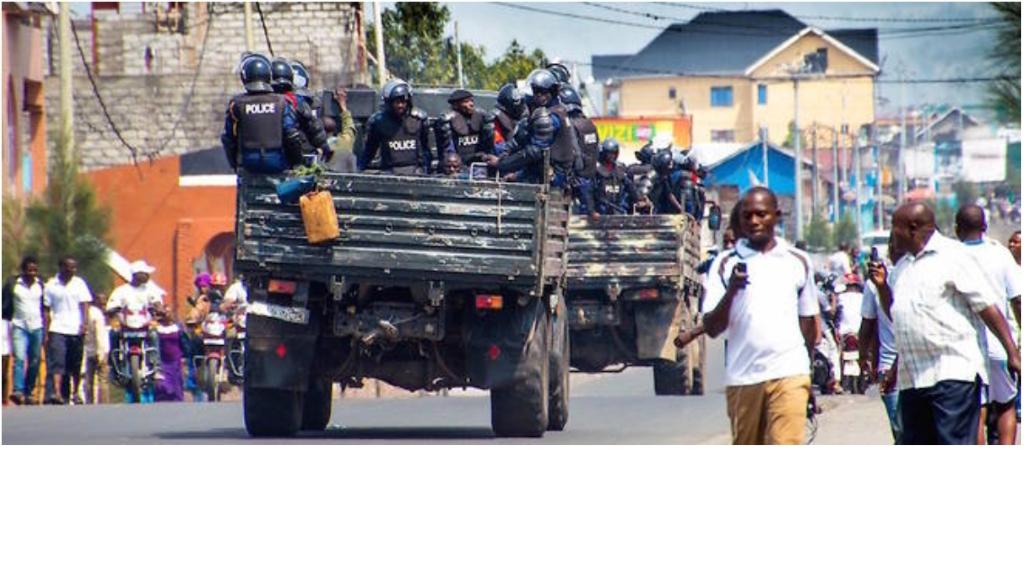 Les forces de sécurité à Goma, dans le Kivu, le 19 décembre 2016.