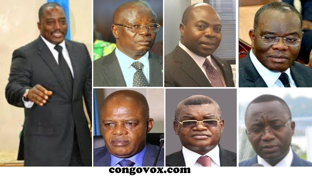 André Kimbuta, Séraphin Ngwej, Beya Siku, Evariste Boshab, Kalev Mutond , Néhémie  Mwilanya
