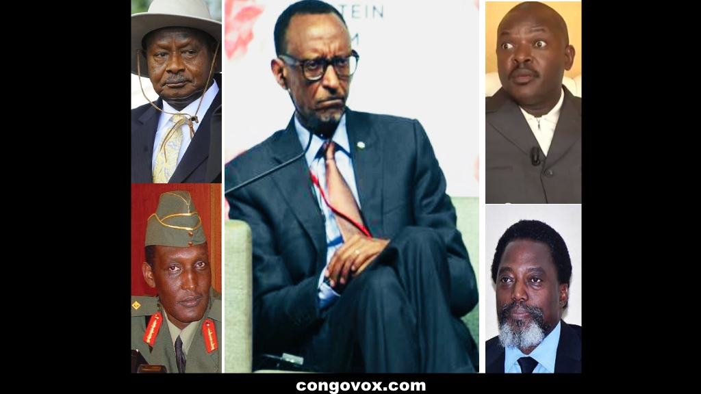 Yoweri Museveni. Gen. Kayumba, Paul Kagame, Nkurunziza, Joseph Kabila