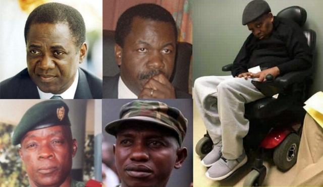 Samba Kaputo, Augustin Katumba Mwanke, Gen. Mbuza Mabe, Col. Mamadou Ndaya, M. l'Abbé Malu Malu