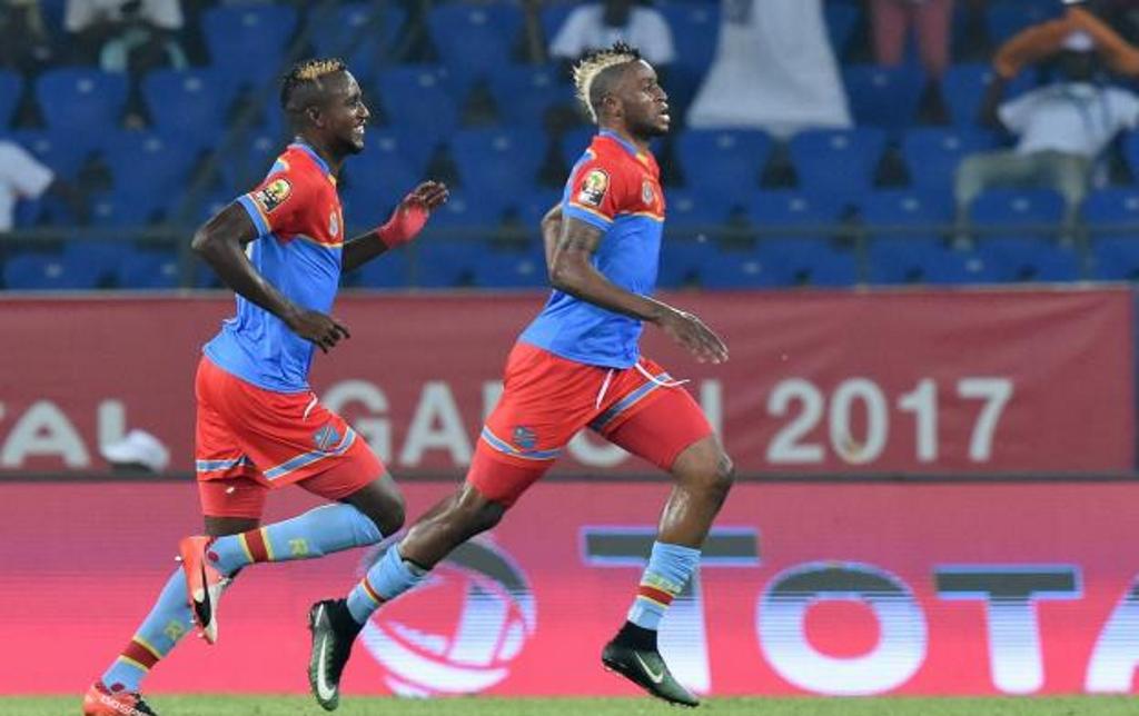 Junior Kabananga (à droite), buteur du match contre le Maroc