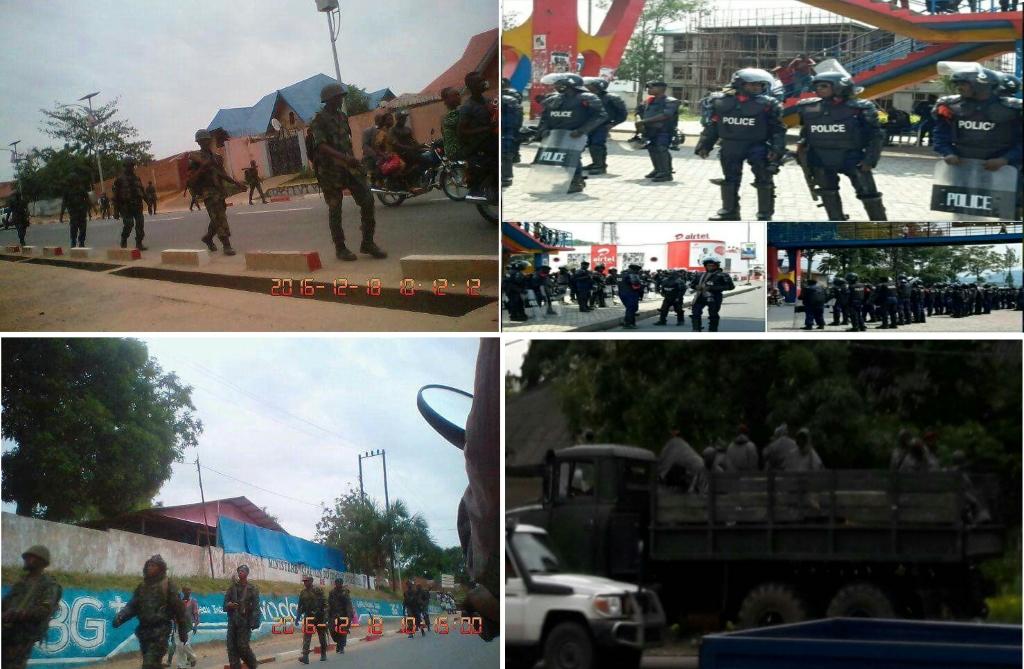 RDC, les mercenaires et policiers de Kabila au 18 decembre 2016