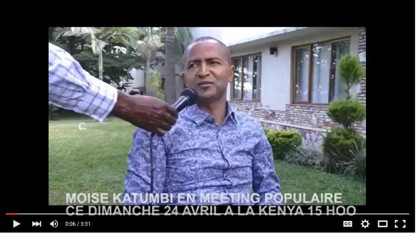 Moise Katumbi, meeting du 24 Avril 2016