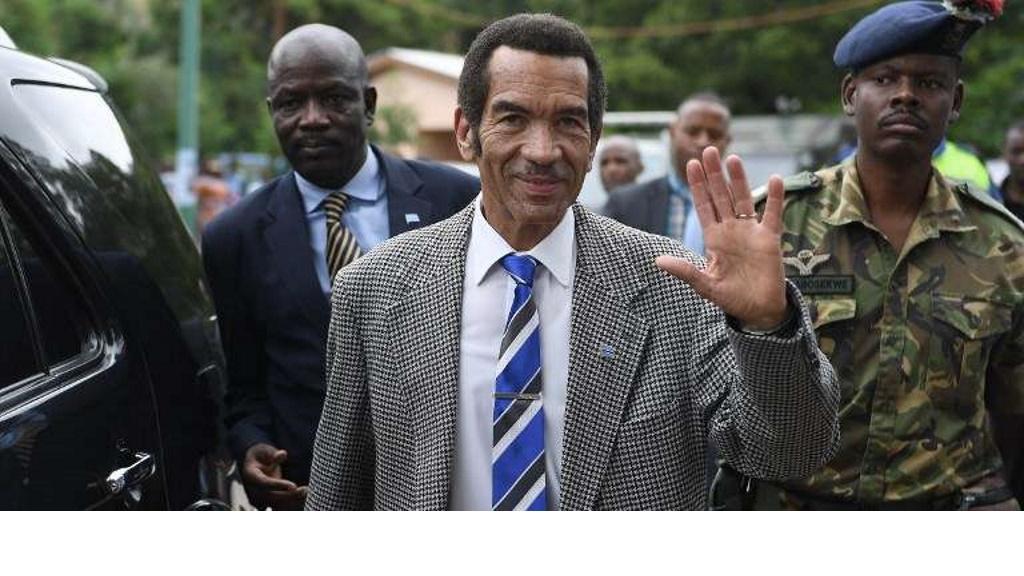 Le Président Ian Khama du Botswana