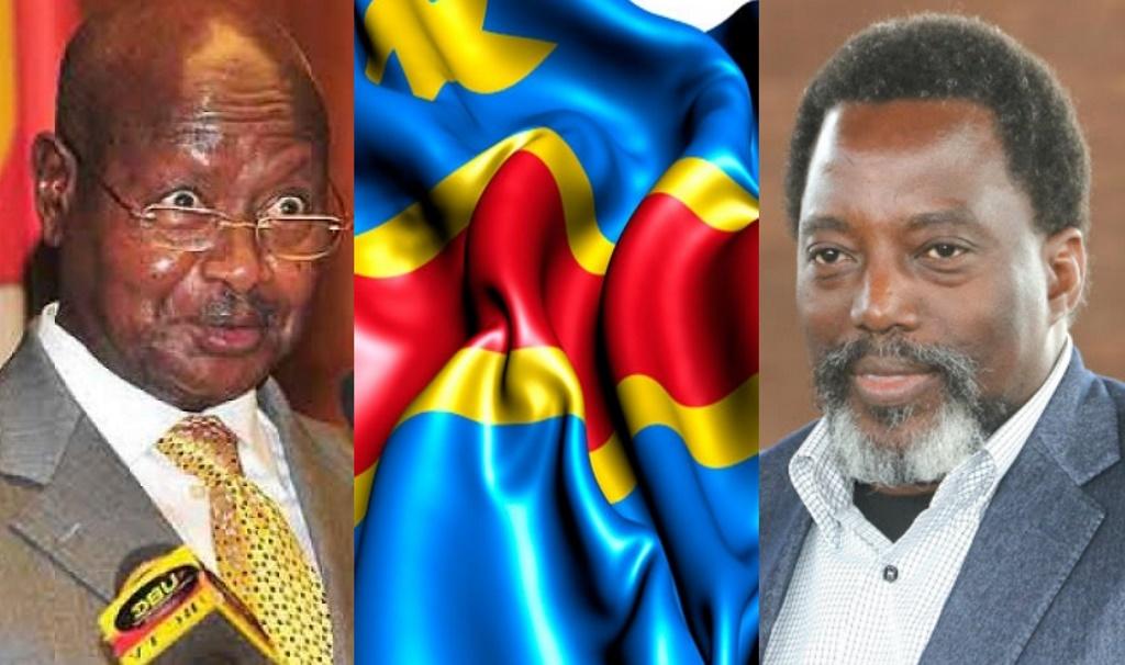 Yoweri Museveni et Joseph Kabila
