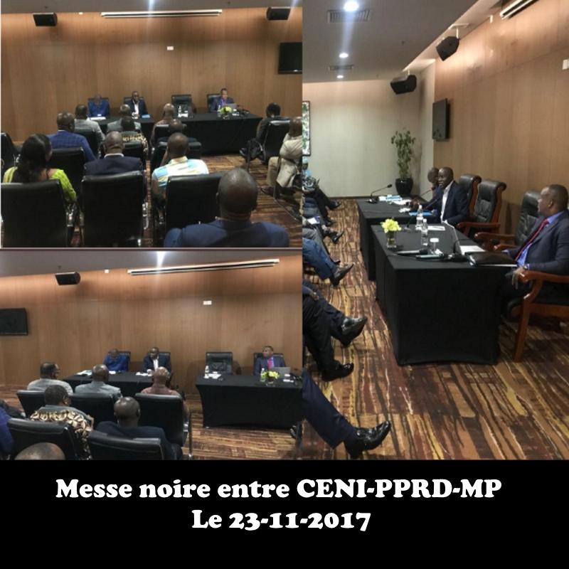 Messe noire entre CENI-PPRD-MP