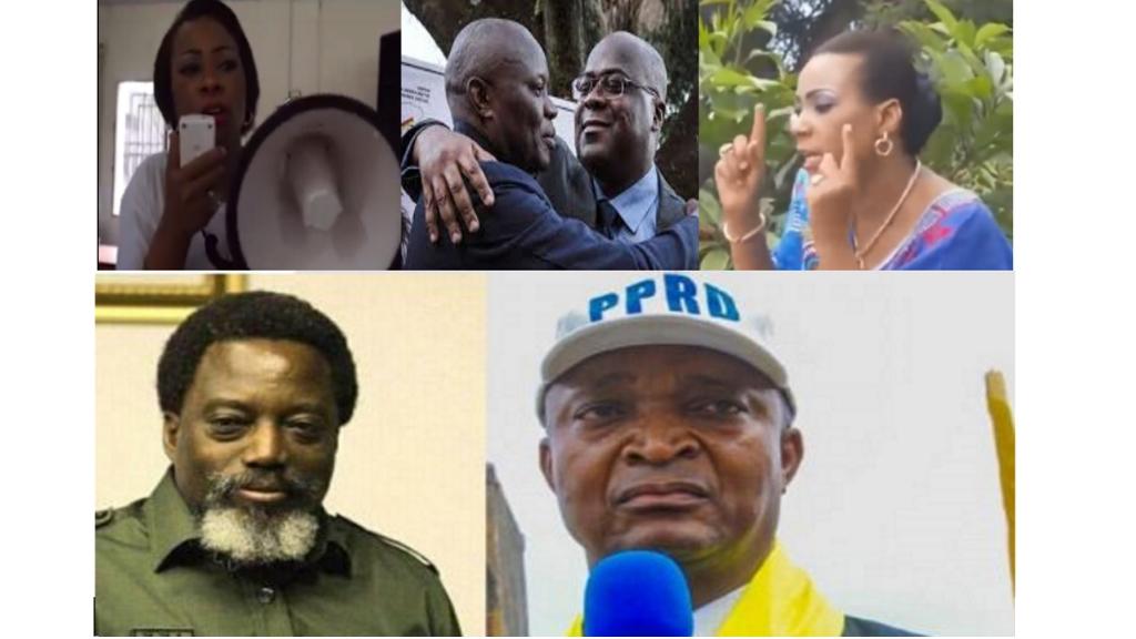 Olive Lembe, Vital Kamerhe, Felix Tshisekedi, Joseph Kabila, Emmanuel Shadary
