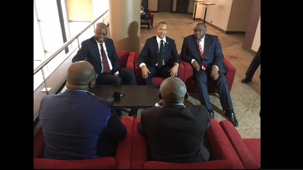 Adolphe Muzito, Moise Katumbi, Jean-Pierre Bemba, Felix Tshisekedi et Vital Kamerhe