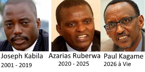 Joseph Kabila, Azarias Ruberwa et Paul Kagame