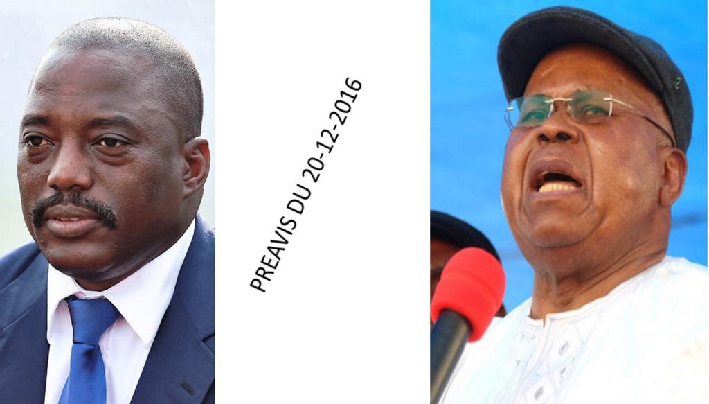 Joseph Kabila et Etienne Tshisekedi