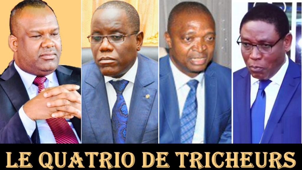 Le Quatrio de Tricheurs: Corneil Nangaa, Aubin Minaku, Ramazani Shadary, Mova Sakanyi