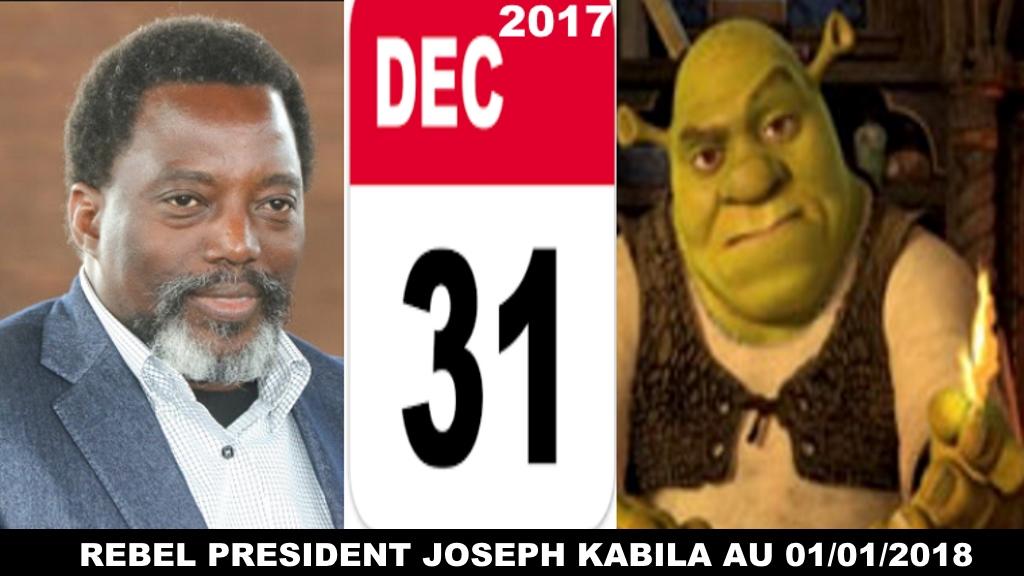 Joseph Kabila contre Shrek