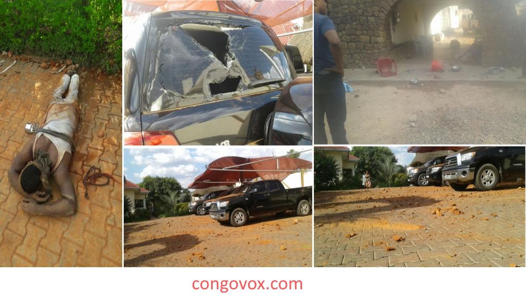 Residence de l'Opposant Mwando Nsimba Vandalisée