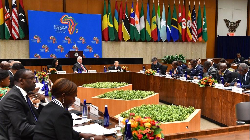 Reunion Etats-Unis-Afrique sans la RD Congo