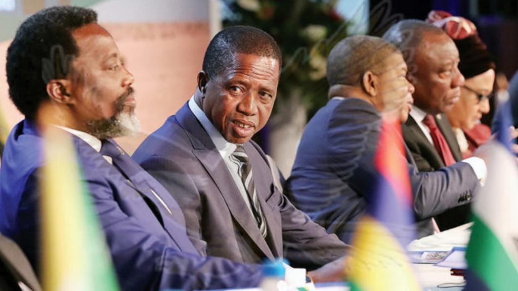 Joseh Kabila, Excellences: M. Edgar Chagwa Lungu, João Lourenço, Cyril Ramaphosa