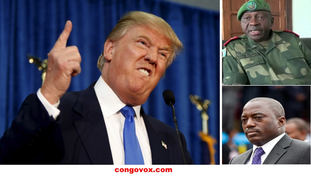 General Francois Olenga, Joseph Kabila et Donald Trump