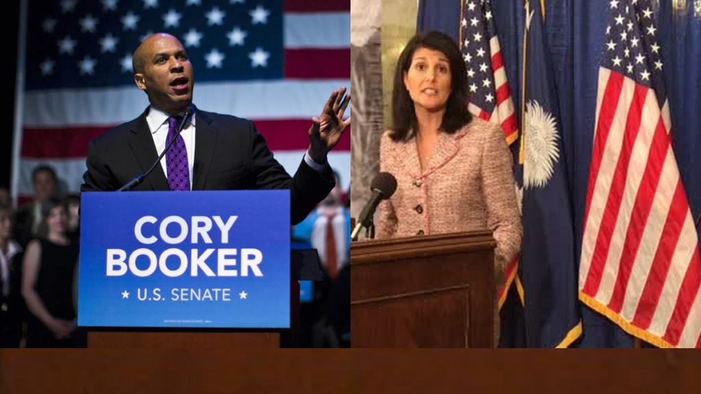 Senateur Corey Booker et l'Ambassadeur Nikki Haley