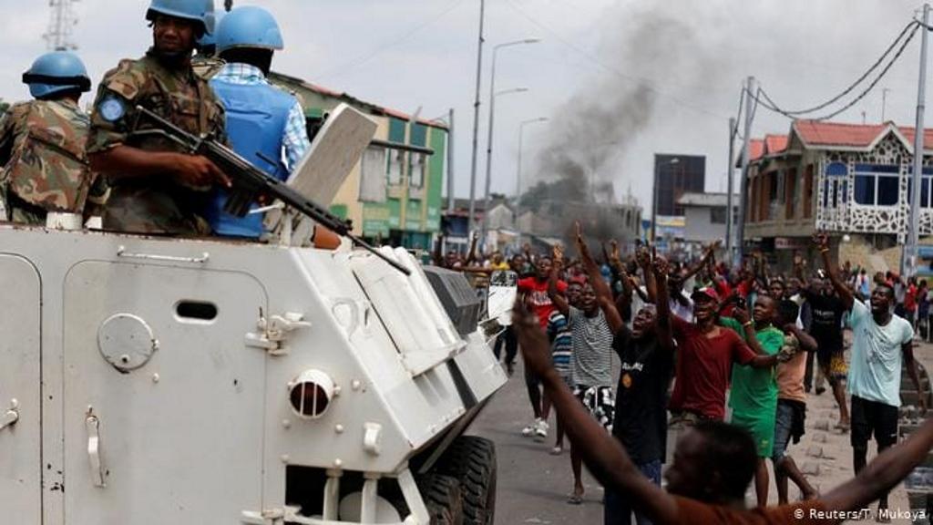 Les manifestants à Beni le 25 novembre 2019 ont démontré que la mission de l'ONU n'avait pas réussi à les protéger après la mort de huit personnes par des rebelles des ADF